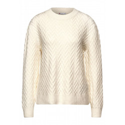 Soft sweater with structure by Street One