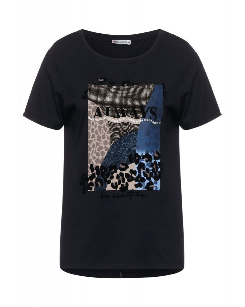 Shirt with part print by Street One