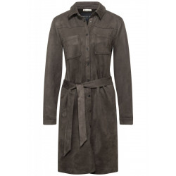 Robe effet velours by Street One