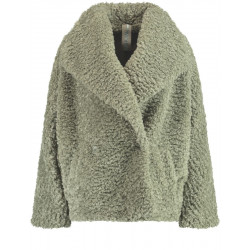 Faux fur jacket with batwing sleeves by Taifun