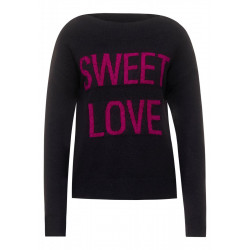 Sweater with wording by Street One