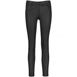 Slim fit: coated pants by Taifun