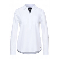 Cotton shirt collar blouse by Street One