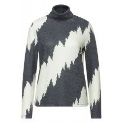 Turtleneck shirt with print by Street One