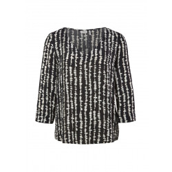 Viscose blouse with a back pleat by s.Oliver Black Label