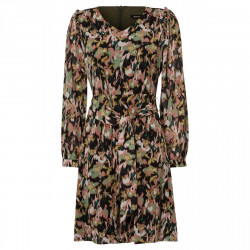 Chiffon dress, painted camouflage by More & More