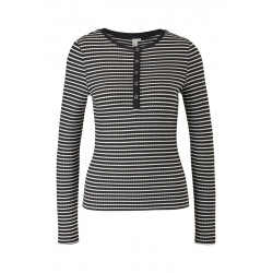 Henley shirt with stripes by Q/S designed by