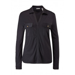 Polo style viscose shirt by s.Oliver Black Label