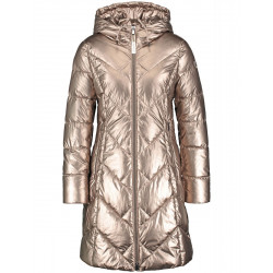 Quilted coat with a metallic effect by Taifun