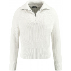 Sweater with Troyer collar by Taifun