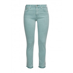 Slim: jeans with a fringed hem by s.Oliver Red Label
