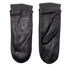 Nusmoothy leather mittens by Nümph