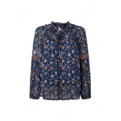 Blouse Kiara with floral details by Pepe Jeans London