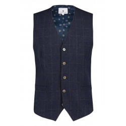 Vest with check pattern by State of Art