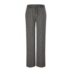 Trousers with a herringbone pattern by s.Oliver Black Label