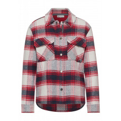 Shirt jacket with checked pattern by Street One