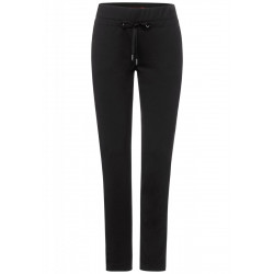 Loose fit pants with slim leg by Street One