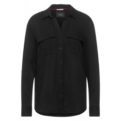 Shirtcollar blouse with pocket by Street One