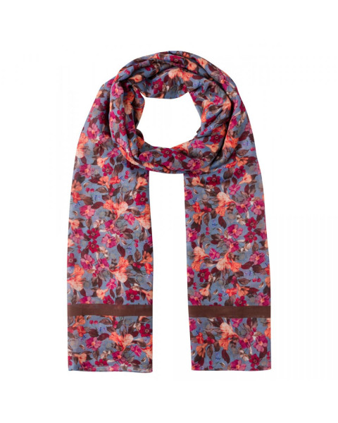 Printed Scarf autumn flowers