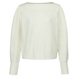 Knitted jumper with boat neckline by Yaya