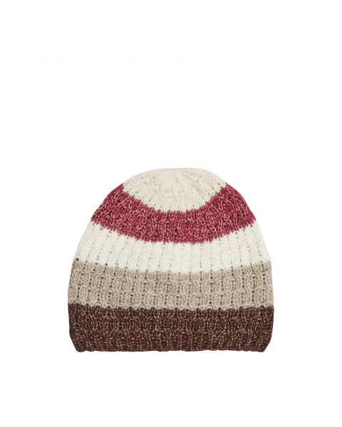 Beanie with block stripes by s.Oliver Red Label