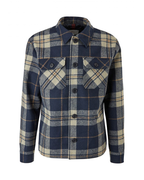 Plaid shirt jacket with wool by s.Oliver Red Label