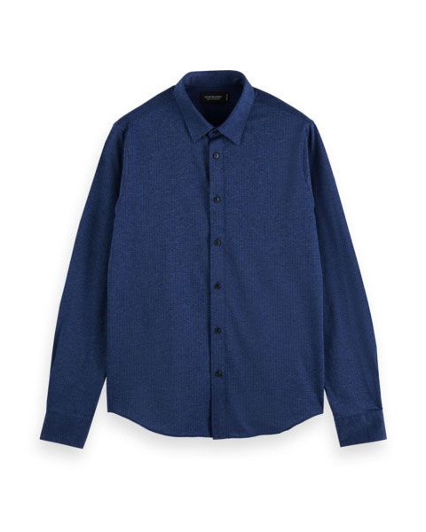 Classic slim fit knitted shirt by Scotch & Soda