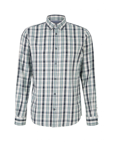 Regular fit: check shirt by Tom Tailor