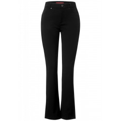 Slim fit trousers in high waist by Street One