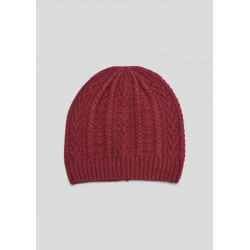 Wool beanie with a knit pattern by s.Oliver Red Label