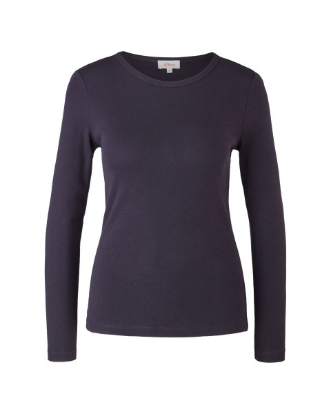 Long sleeve top in a plain colour by s.Oliver Red Label