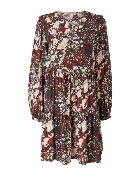 Viscose dress with flounce by Q/S designed by