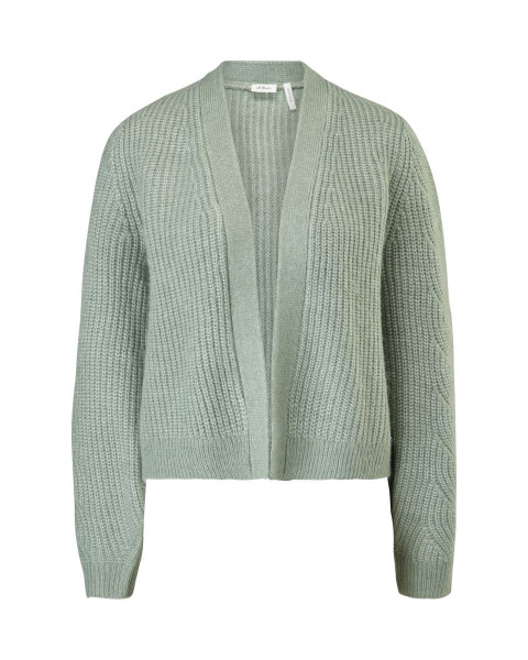 Cardigan with a knitted pattern by s.Oliver Black Label