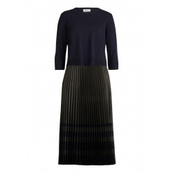 Midi dress with pleated skirt by Vera Mont