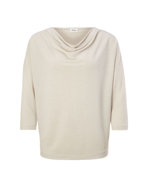T-shirt with 3/4-length sleeves by s.Oliver Black Label