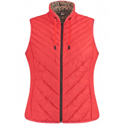 Reversible vest with animal print by Samoon