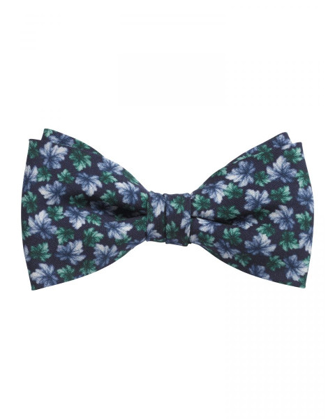 Bow tie with floral pattern