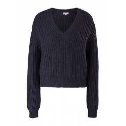 V-neck knitted sweater by s.Oliver Red Label