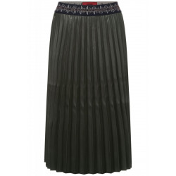 Pleated skirt in leather look by Street One