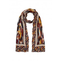 Pattern scarf made of viscose by s.Oliver Red Label