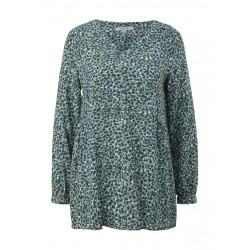 Crêpe blouse with all-over print by comma CI