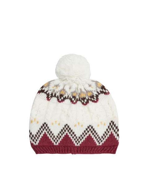 Bobble hat with knitted pattern by s.Oliver Red Label