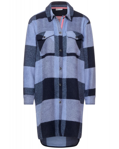 Checkered Longline Overshirt by Street One