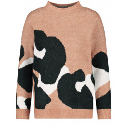 Sweater with leo print by Gerry Weber Casual