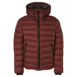 Jacket with Hooded Recycled Padding by No Excess