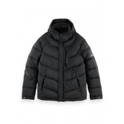 Hooded water-repellent puffer jacket by Scotch & Soda