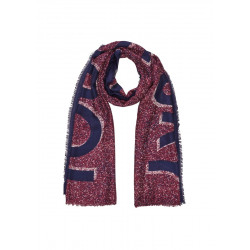 Pattern scarf with fringed hem by s.Oliver Red Label