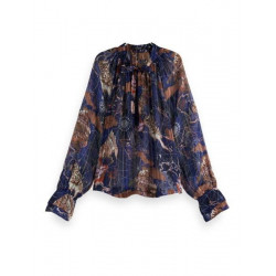 Transparent frilled top with print by Scotch & Soda