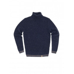 Turtleneck with contrast stripes by Colours & Sons