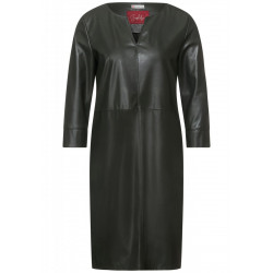 Leather look dress by Street One